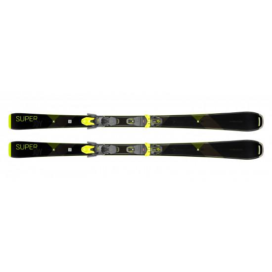 Комплект super Joy SLR Joy Pro + JOY 11 GW SLR Brake 78 [H] (315609+100801) (горные лыжи+крепления гл) black/neon yellow
