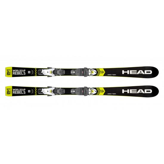 Комплект WC iRace Team SLR Pro + SLR 4.5 GW AC Brake 80 [I] (314149+100796) (горные лыжи+крепления гл) black/neon yellow