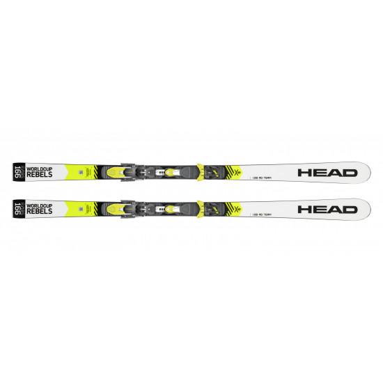 Комплект WC Rebels iGS RD Team SW JRP RDX + FREEFLEX EVO 11 BRAKE 85 [D] (314019+100736) (горные лыжи+крепления гл) white/neon yellow