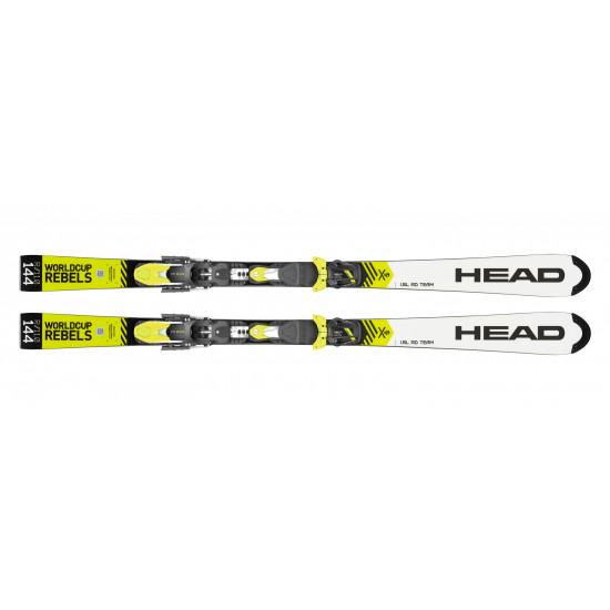 Комплект WC Rebels iSL RD Team SW JRP RDX + FREEFLEX EVO 11 BRAKE 85 [D] (314039+100736) (горные лыжи+крепления гл) white/neon yellow