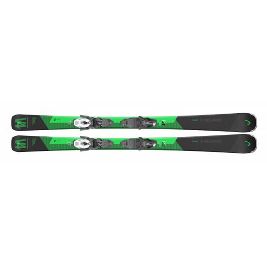 Комплект V-Shape V4 XL LYT-PR + PR 11 GW BRAKE 90 [G] (315270+100787) (горные лыжи+крепления гл) black/green